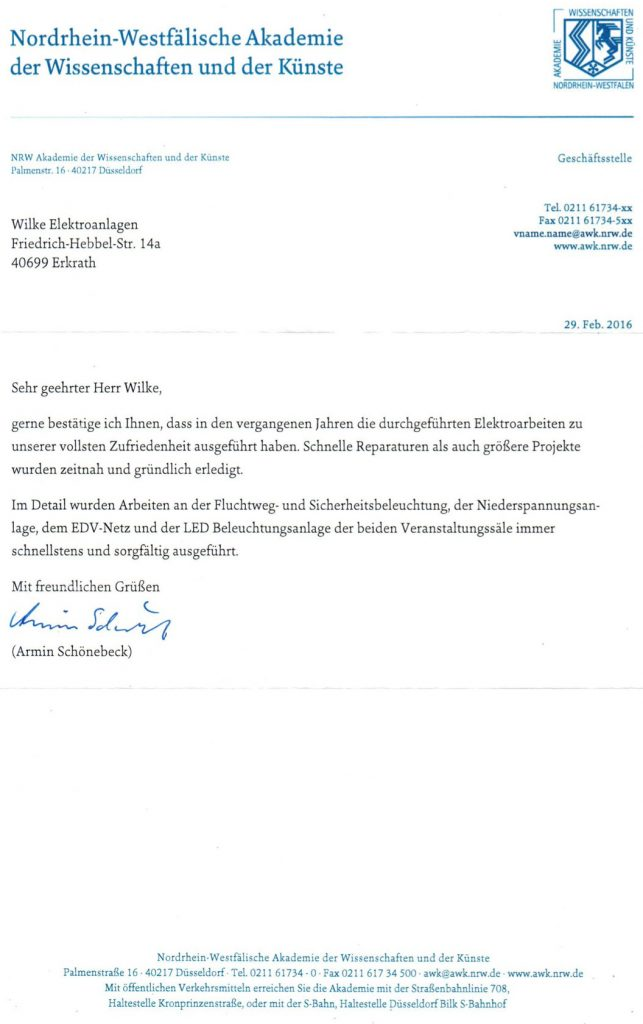 Referenz vom Land NRW